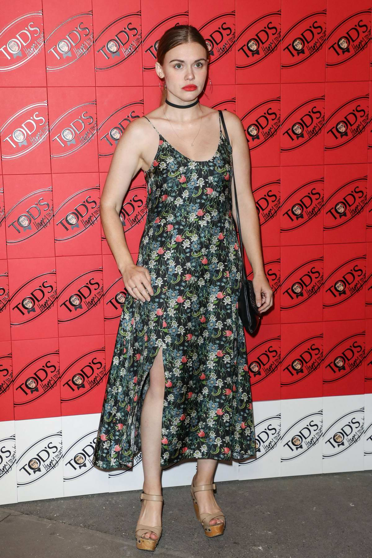 Holland Roden attends Tod's x Alber Elbaz Happy Moments party at Palais de Tokyo in Paris, France