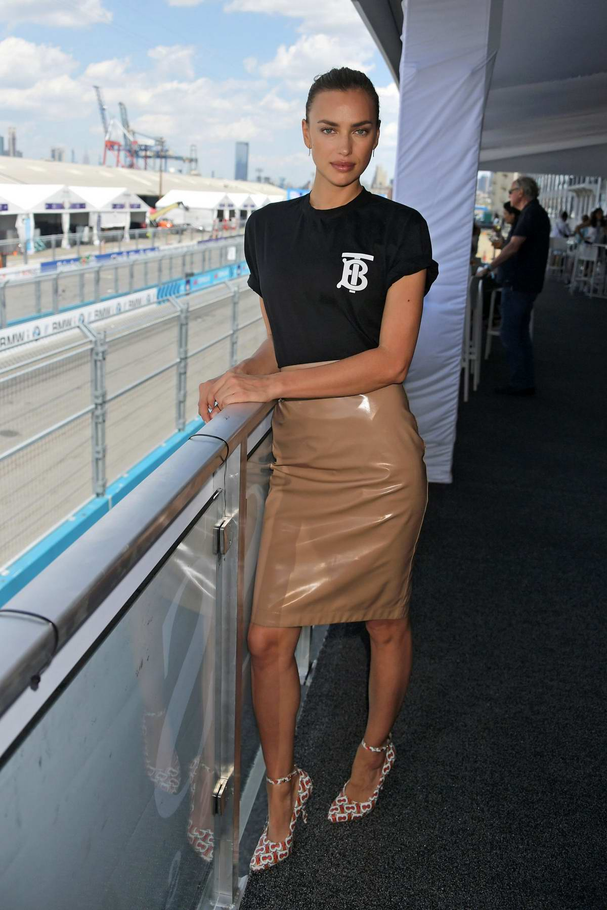 Irina Shayk attends the 2019 New York E-Prix in New York City