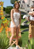 Iris Mittenaere attends 'Jungle Book Jive' photocall during The Lion King Festival Event at Disneyland Paris, France