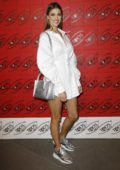 Iris Mittenaere attends Tod's x Alber Elbaz Happy Moments party at Palais de Tokyo in Paris, France