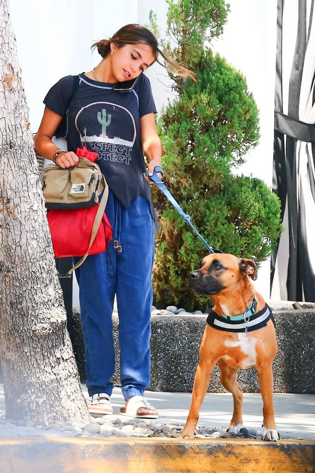 Isabela Moner stepped out with her dog in West Hollywood, Los Angeles