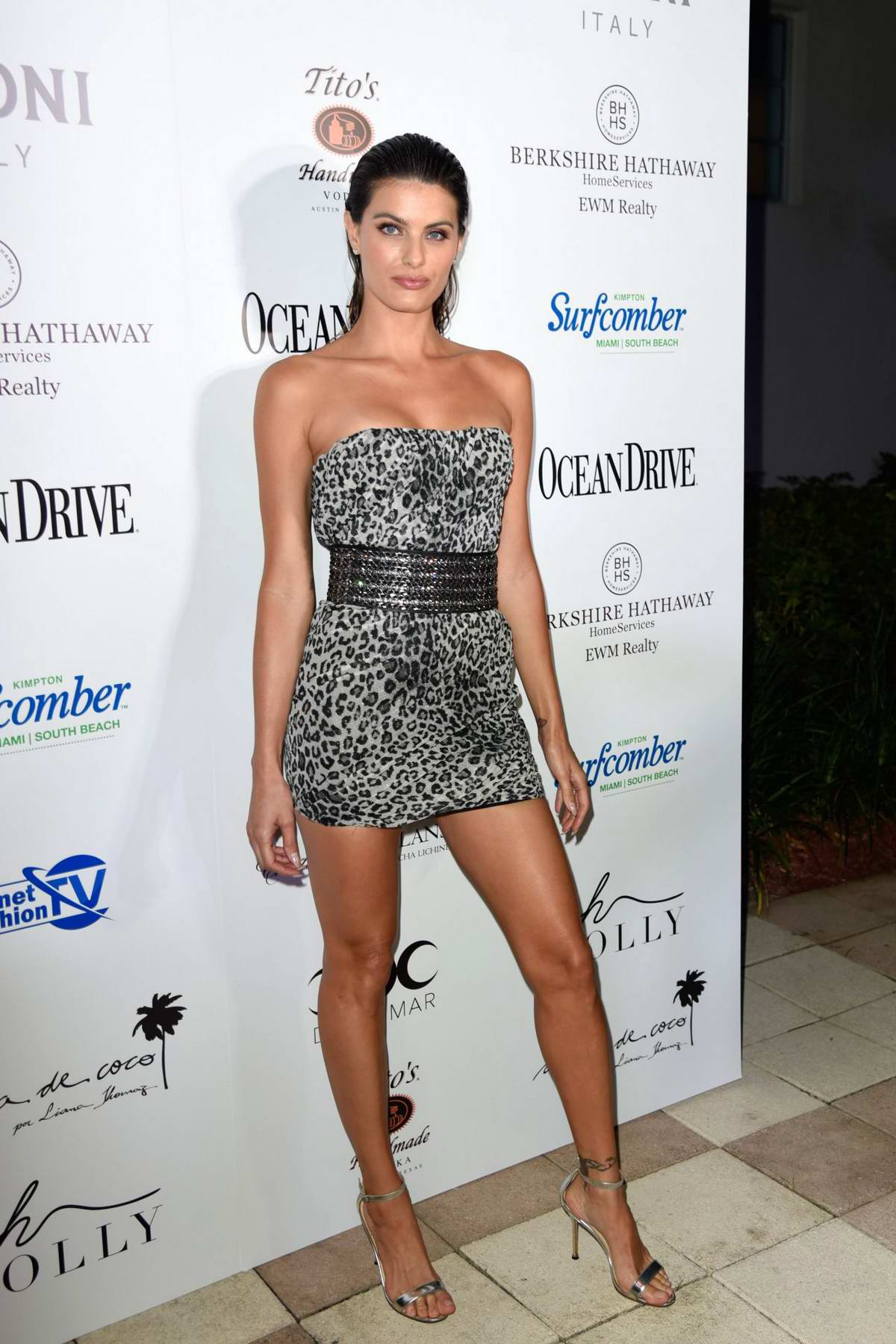 Isabeli Fontana attends the Miami Swim Week Annual Swim Issue release party in Miami, Florida