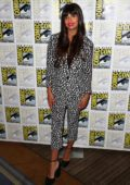 Jameela Jamil attends 'The Good Life' press line during 2019 Comic-Con International in San Diego, California