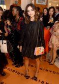 Jenna Coleman attends the Bvlgari Corner Shop Launch at Selfridges in London, UK