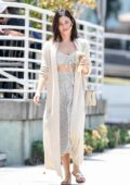 Jenna Dewan dressed for summer while out for an iced coffee in Studio City, Los Angeles