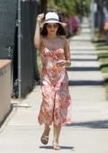 Jenna Dewan looks lovely in floral summer dress while taking her daughter to a playdate in Beverly Hills, Los Angeles