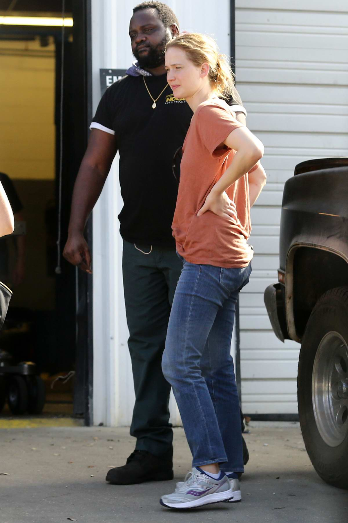 Jennifer Lawrence spotted on the set of untitled Lila Neugebauer project in New Orleans, Louisiana