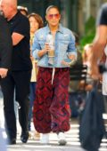 Jennifer Lopez spotted with her sparkly travel mug while heading for her concert at Madison Square Garden in New York City