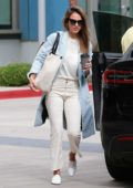 Jessica Alba dressed for business as she heads to her office in Los Angeles
