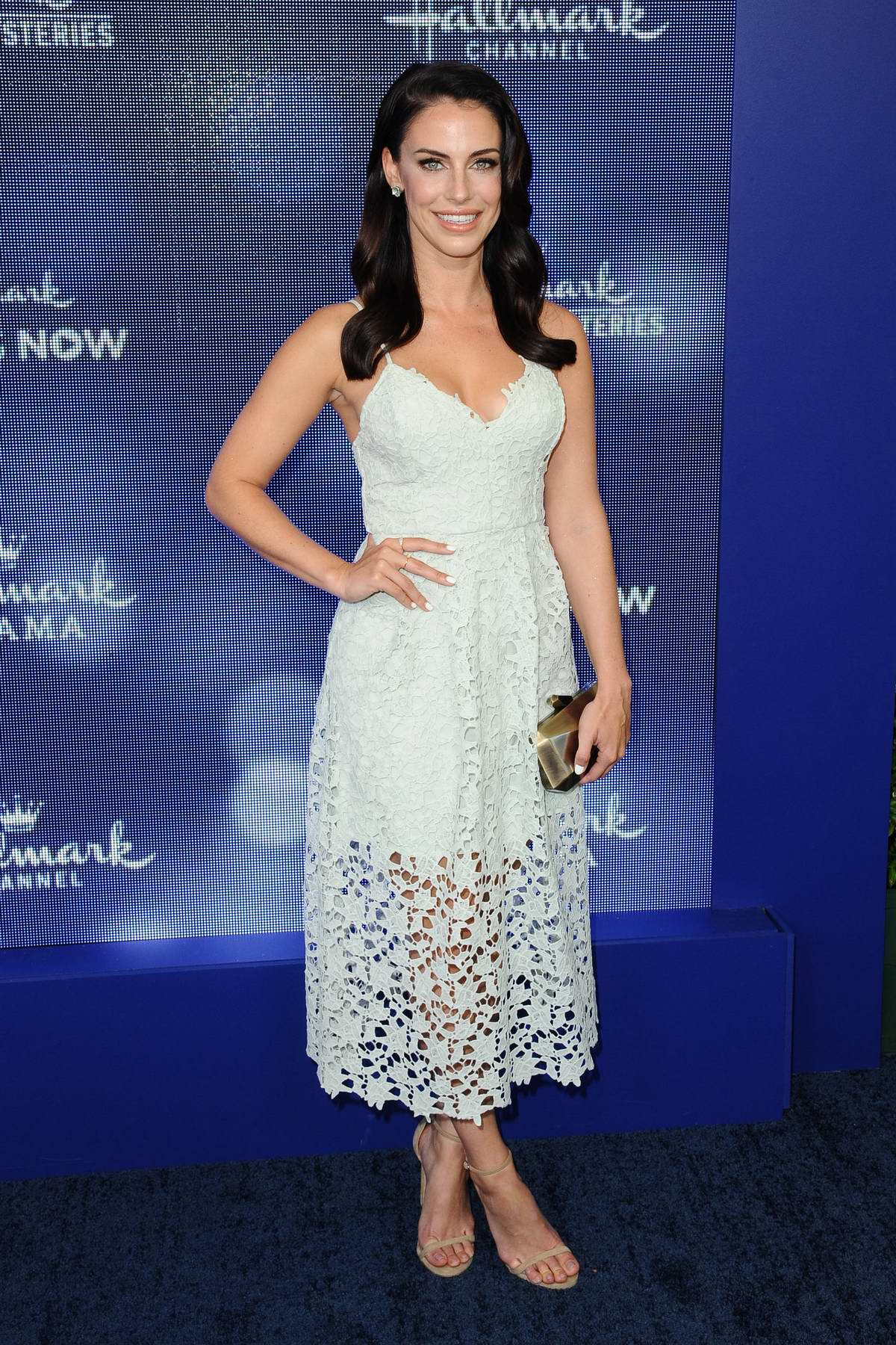 Jessica Lowndes attends Hallmark Movies & Mysteries Summer TCA Press Tour Event in Beverly Hills, Los Angeles