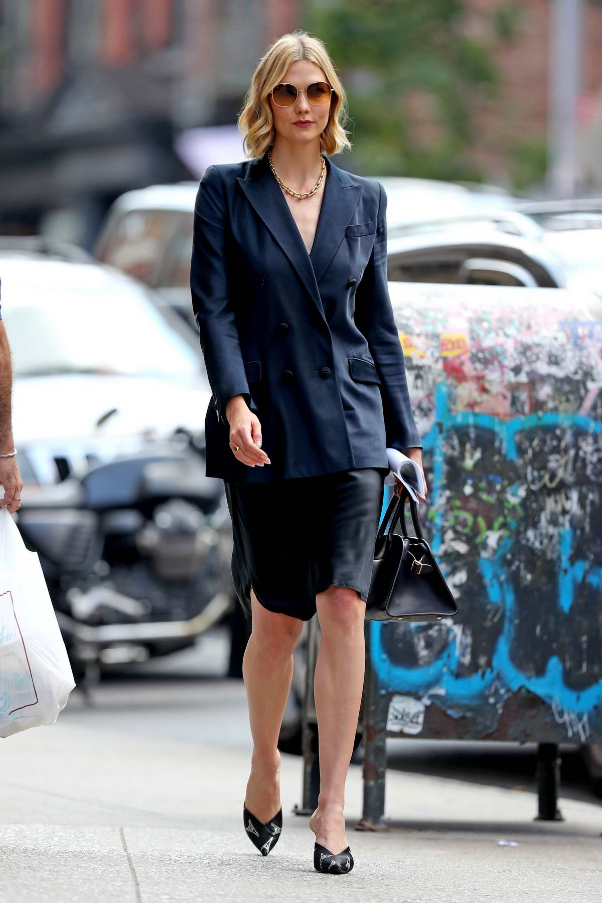 Karlie Kloss dressed for business as she steps out in SoHo, New York City