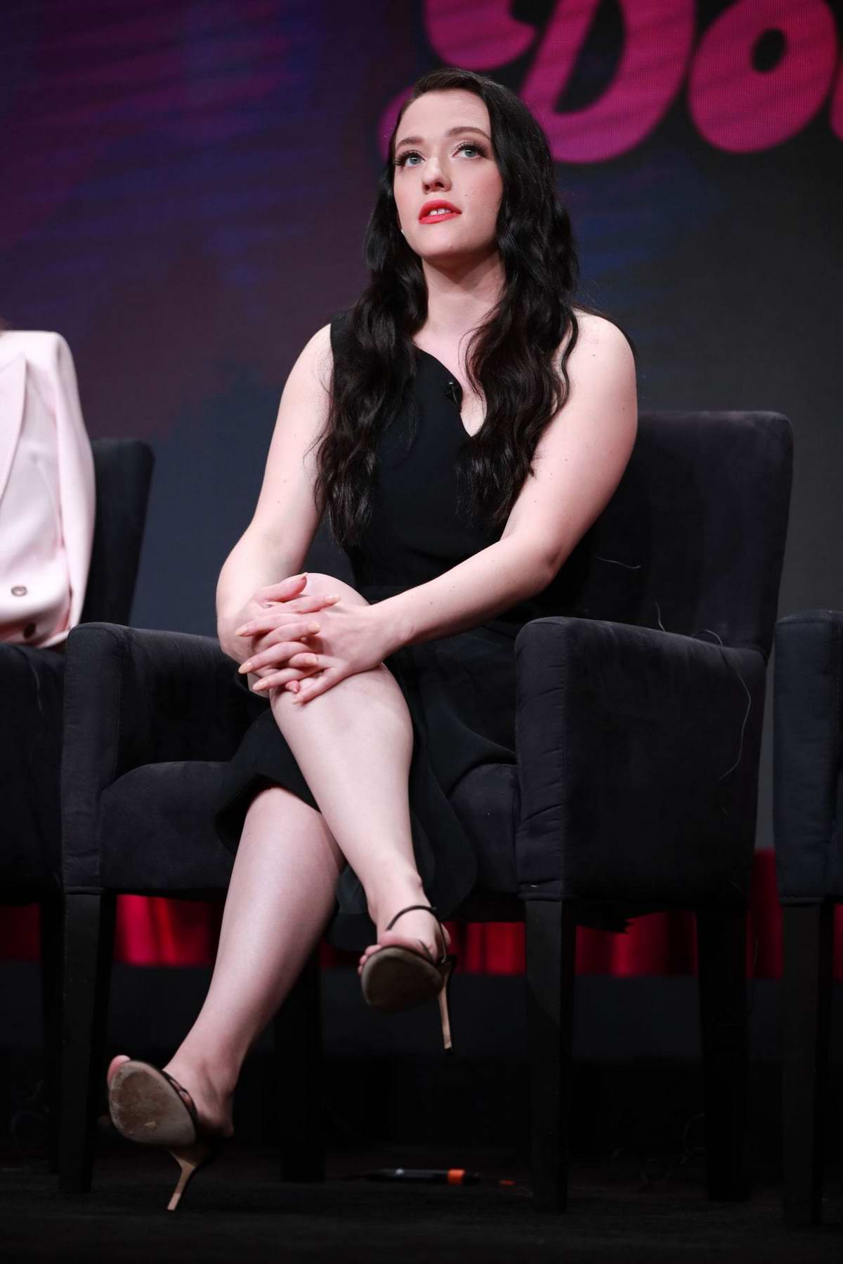 Kat Dennings attends 'Dollface' Panel during Hulu TCA Summer Press Tour at The Beverly Hilton Hotel in Beverly Hills, Los Angeles