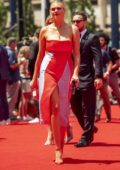 Kate Upton and Justin Verlander attends the 2019 MLB All-Star Game red carpet in Cleveland, Ohio