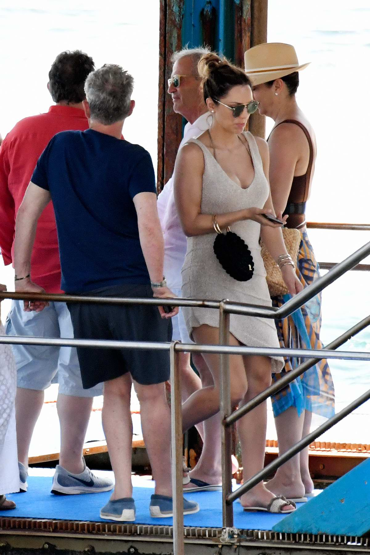Katharine McPhee and David Foster enjoy lunch at Ristorante Lo Scoglio in Capri, Italy