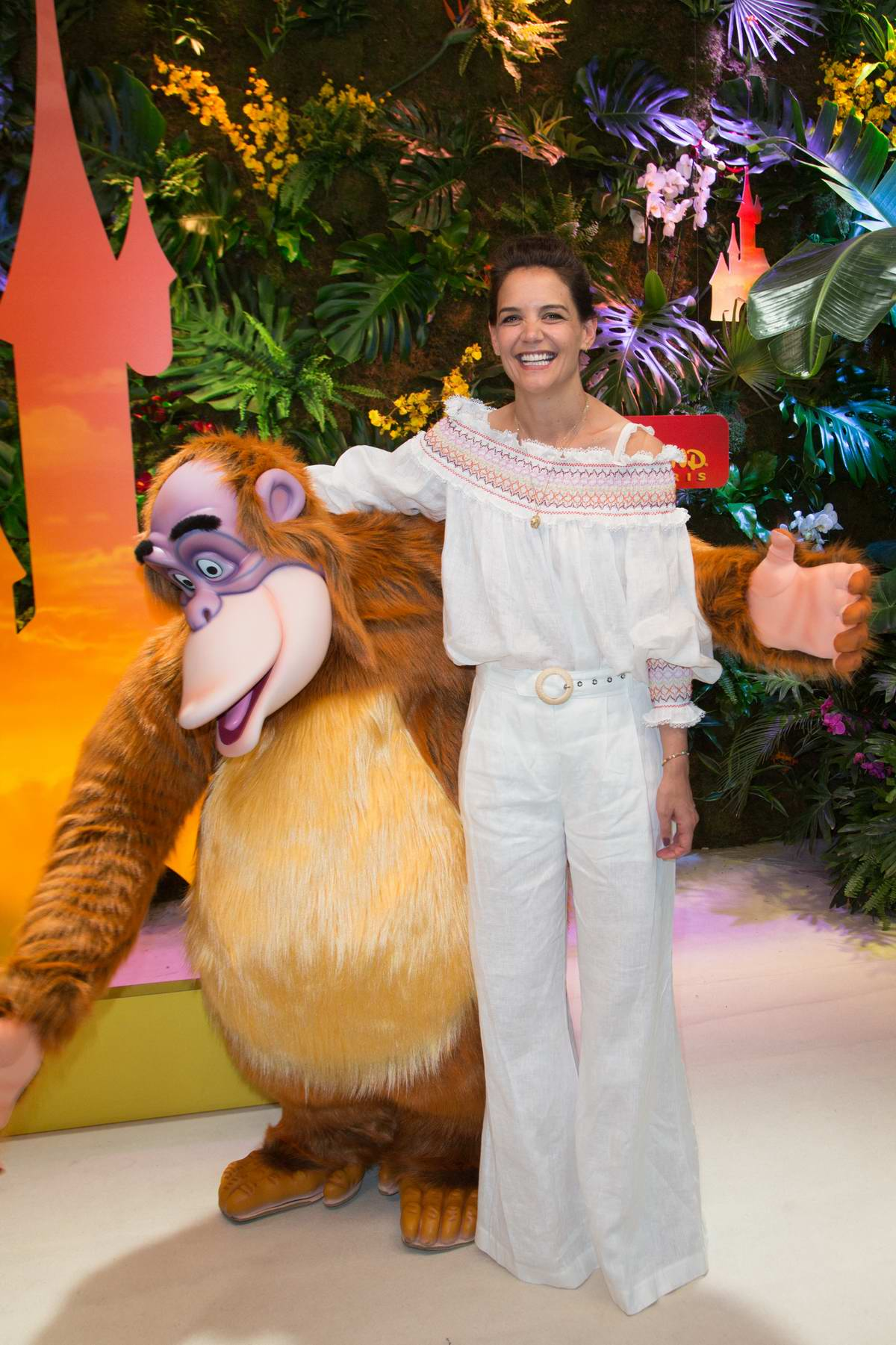 Katie Holmes attends 'Jungle Book Jive' photocall during The Lion King Festival Event at Disneyland Paris, France