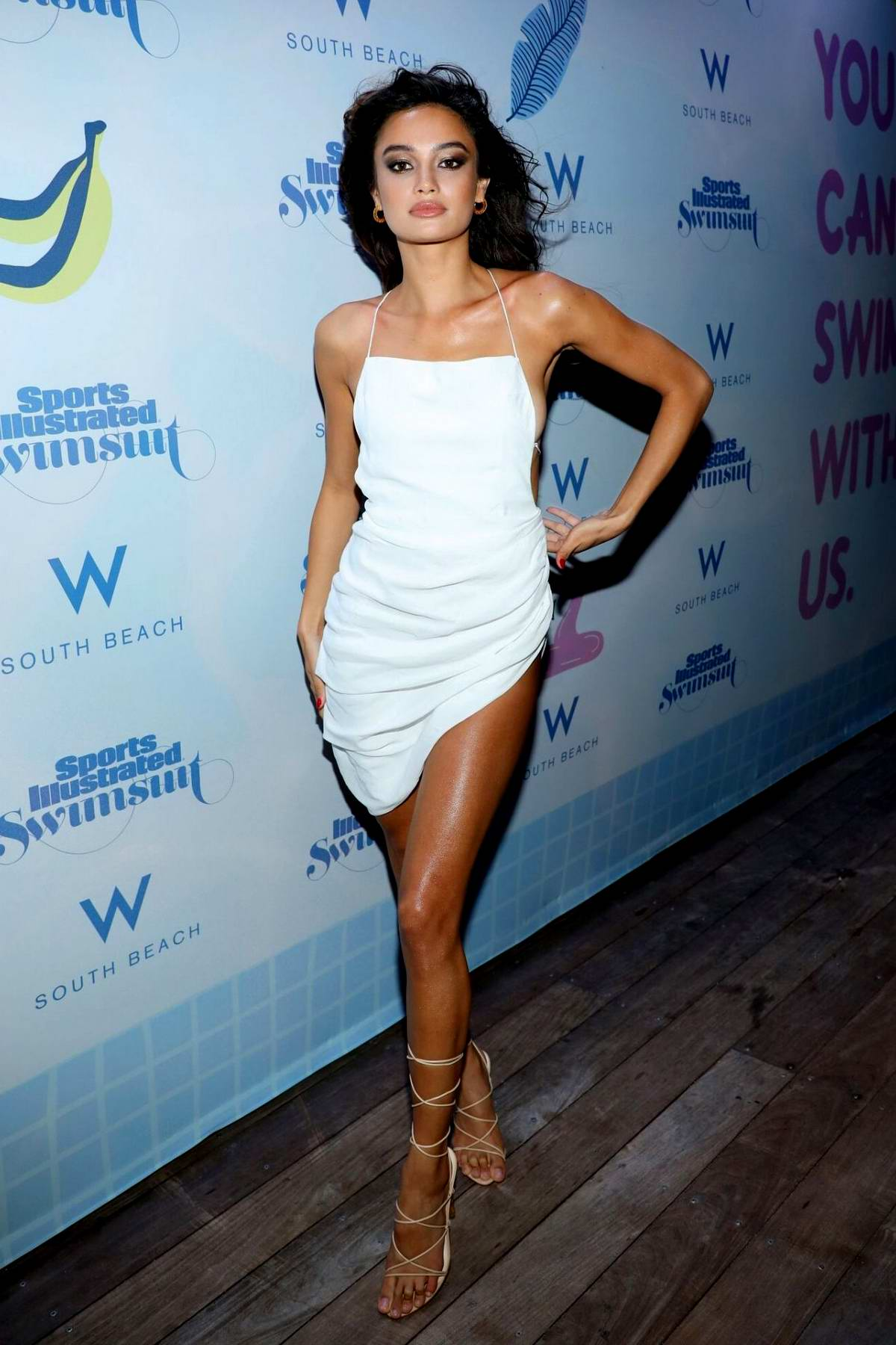 Kelsey Merritt attends the 2019 Sports Illustrated Swimsuit Runway Show at Miami Swim Week in Miami, Florida