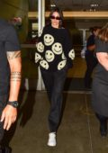 Kendall Jenner keeps it casual in all-black as she is touches down at LAX in Los Angeles