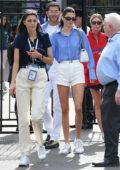 Kendall Jenner looks chic while attending 2019 Wimbledon Tennis Championships with Fai Khadra in London, UK