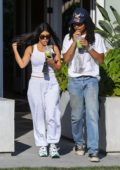Kourtney Kardashian and Luka Subbat go out for veggie smoothies at Cha Cha Matcha in West Hollywood, Los Angeles