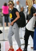 Kristen Stewart and Stella Maxwell seen arriving at JFK airport in New York City