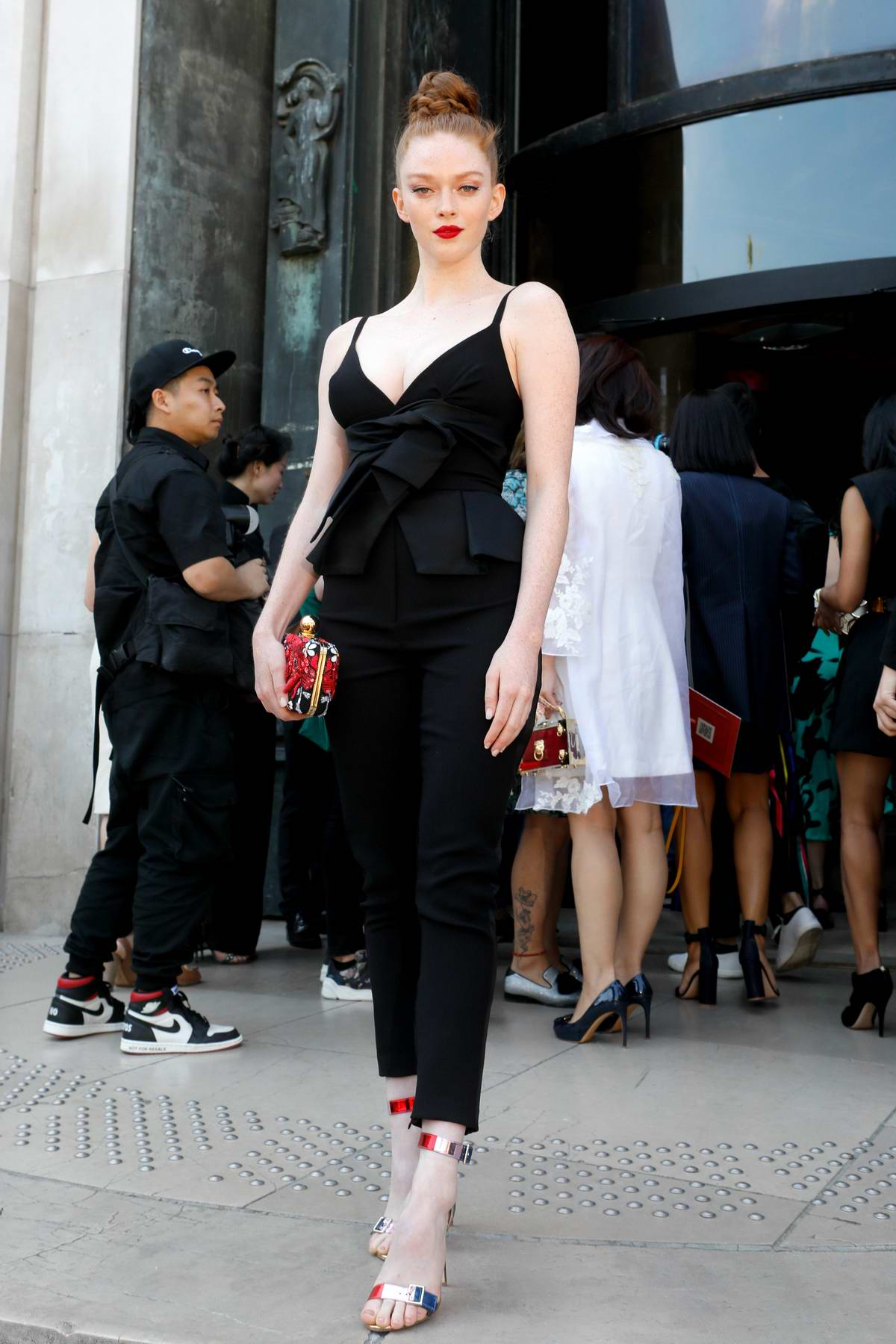 Larsen Thompson attends the Elie Saab Haute Couture Fall/Winter 2019/20 show during Paris Fashion Week in Paris, France