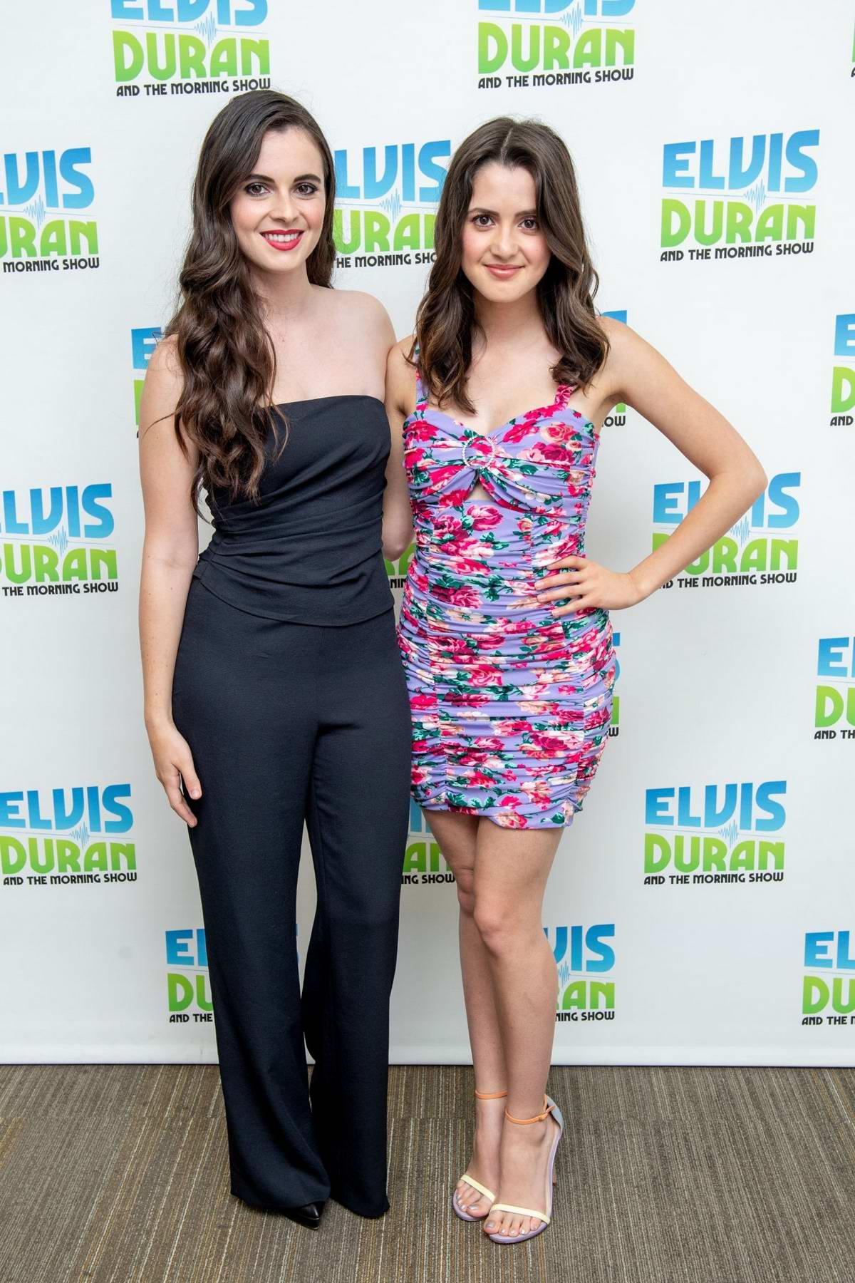 Laura Marano and Vanessa Marano visit 'Elvis Duran and The Z100 Morning Show' to discuss 'Saving Zoe' in New York City
