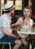 Lily James and Matt Smith enjoy alfresco dinner during a date night in Primrose Hill, London