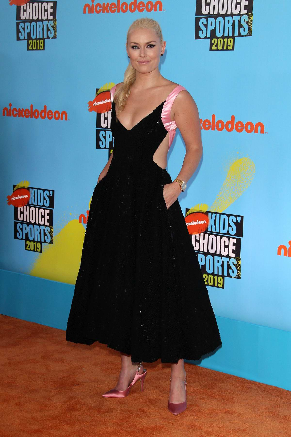 Lindsey Vonn attends the 2019 Nickelodeon Kids' Choice Sports Awards in Los Angeles