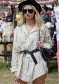 Lottie Moss attends the 2019 Glastonbury Festival in Pilton, Somerset, UK