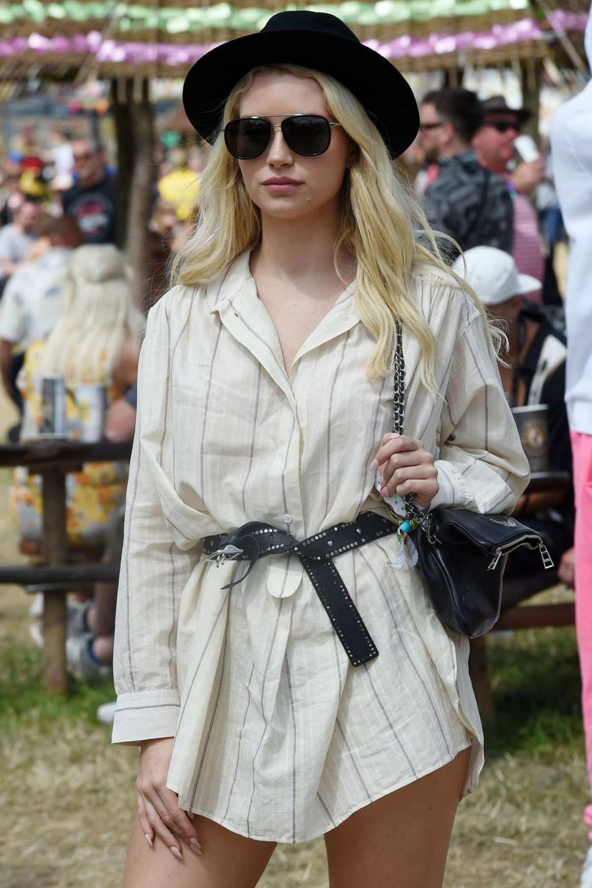 Lottie Moss attends the 2019 Glastonbury Festival in Pilton, Somerset, UK