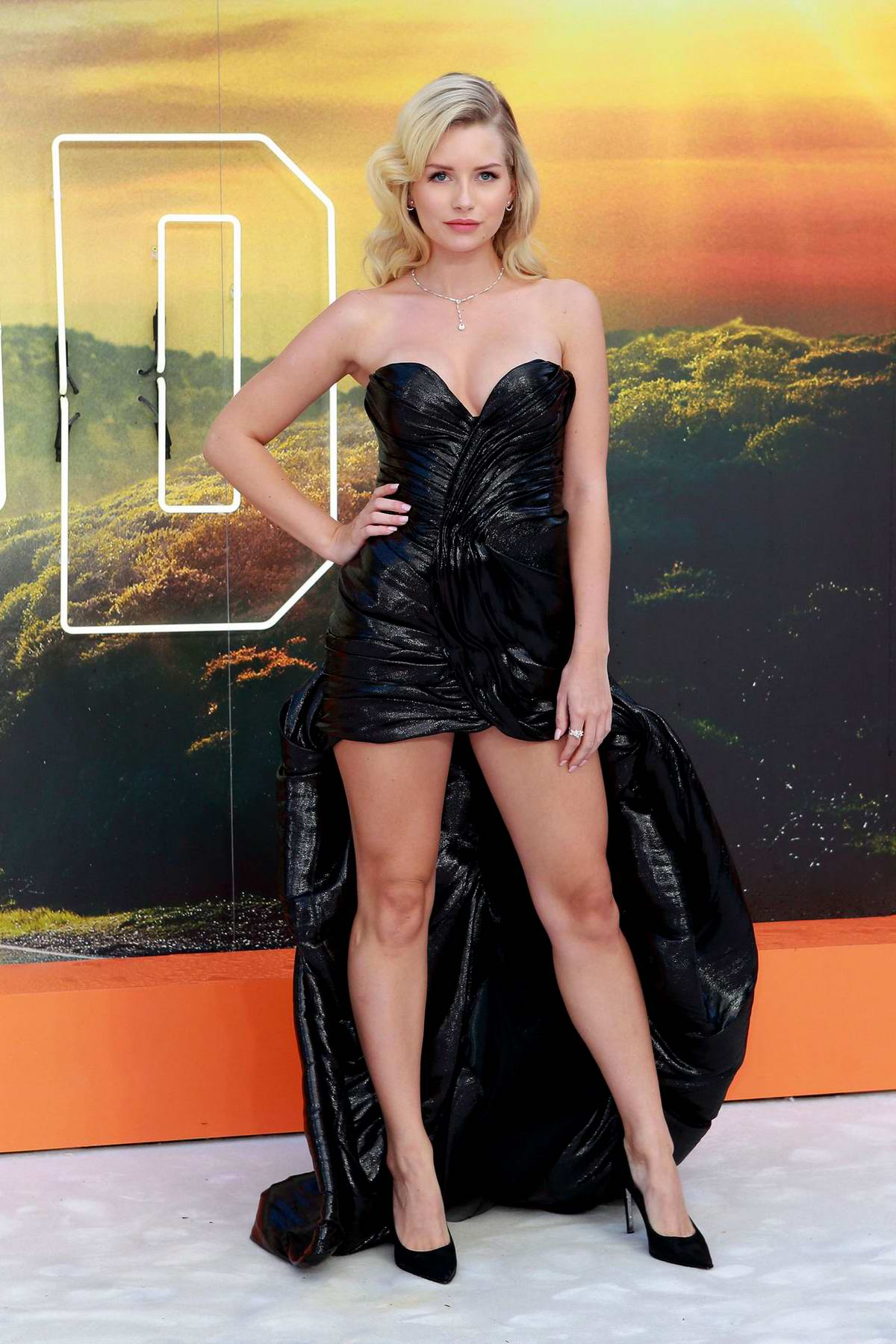 Lottie Moss attends the UK Premiere of 'Once Upon a Time in Hollywood' in London, UK