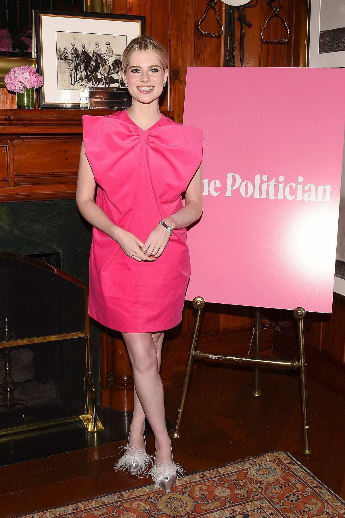 Lucy Boynton attends the screening of 'The Politician' in New York City