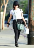 Lucy Hale gets in some relaxation after visiting The Now massage studio in Studio City, Los Angeles