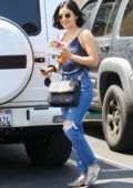 Lucy Hale is all smiles as she grabs fresh juice and breakfast in Studio City, Los Angeles