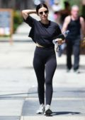 Lucy Hale rocks all-black top and leggings as she heads to the gym in Studio City, Los Angeles