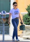 Lucy Hale takes a trip to the salon after her workout in Los Angeles