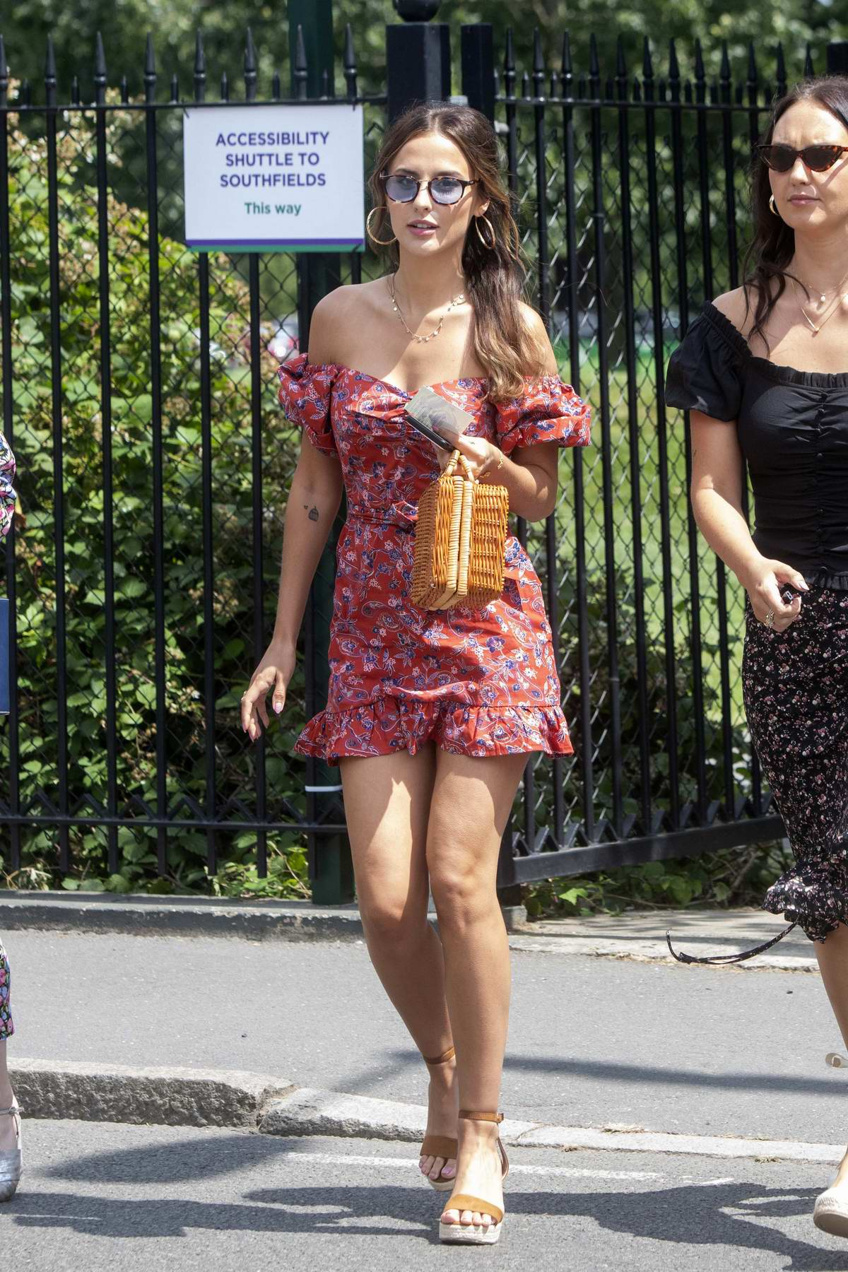 Lucy Watson arrives at the 2019 Wimbledon at All England Lawn Tennis and Croquet Club in London, UK
