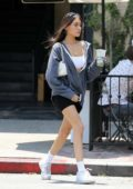 Madison Beer flaunts her slender legs in shorts while running errands in West Hollywood, Los Angeles