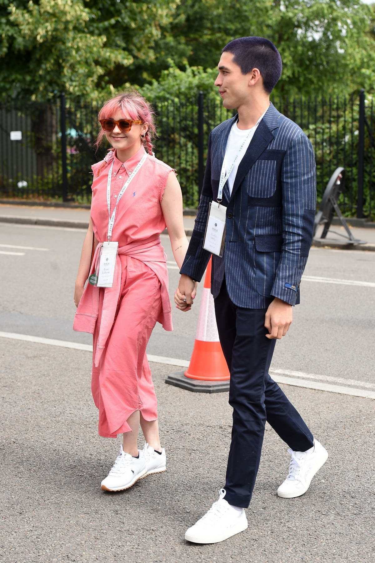Maisie Williams and boyfriend Reuben Selby attend the 2019 Wimbledon Tennis Championships in London, UK