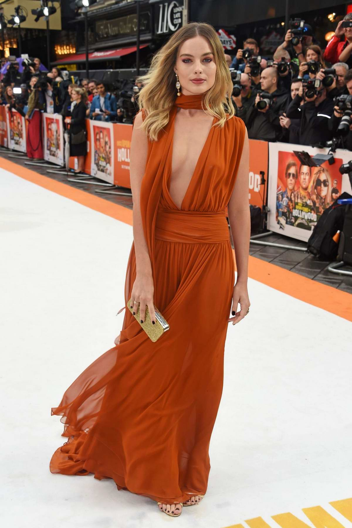 Margot Robbie attends the UK Premiere of 'Once Upon a Time in Hollywood' in London, UK