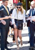 Margot Robbie looks stylish while stepping out during Paris Fashion Week in Paris, France