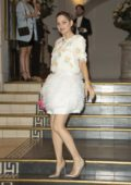 Marion Cotillard attends Vogue dinner during Haute Couture Fall/Winter 2019/20, Paris Fashion Week at Le Trianon in Paris, France