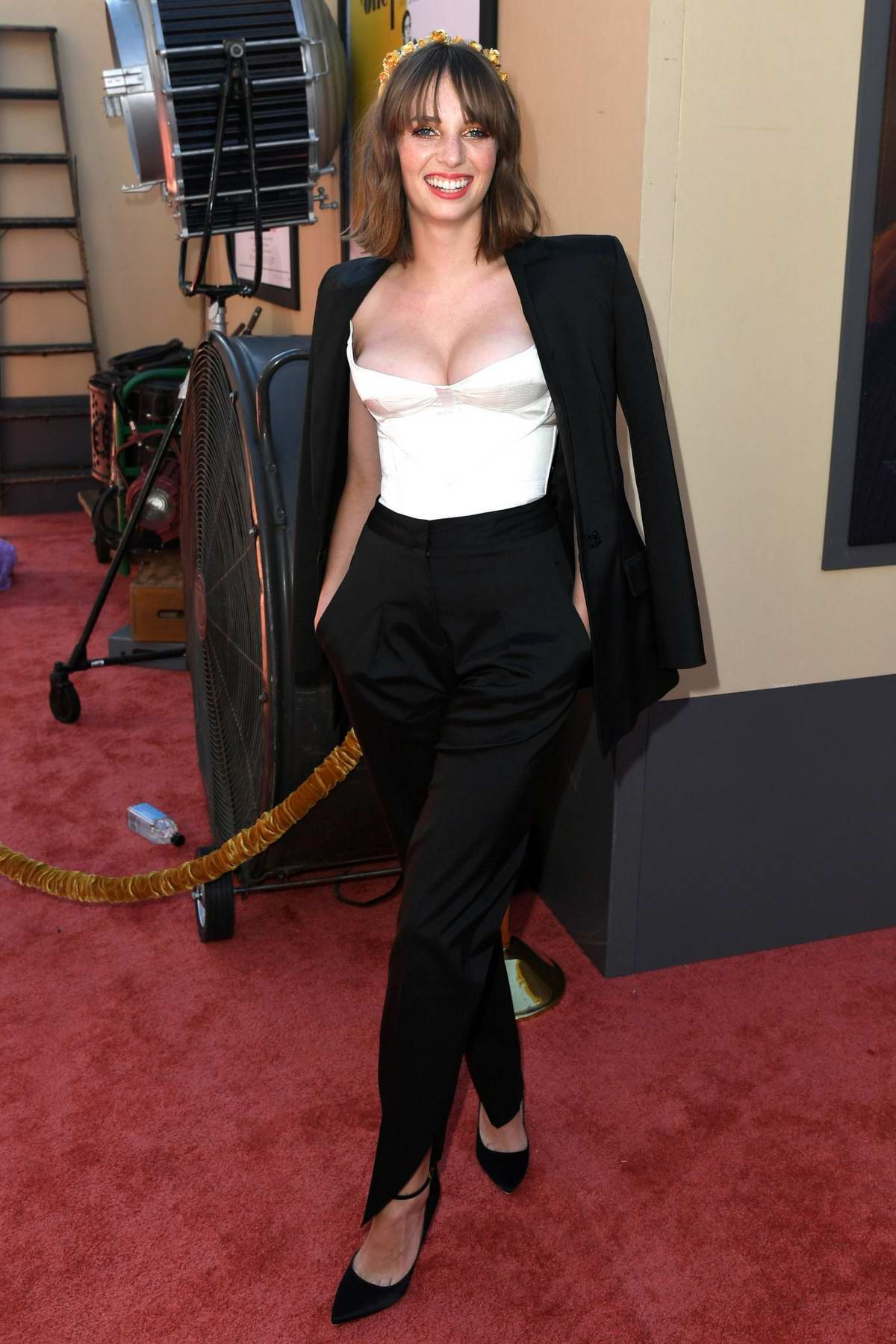 Maya Hawke attends the Los Angeles Premiere of 'Once Upon a Time in Hollywood' in Hollywood, California