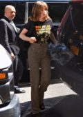 Maya Hawke rocked 'Bob Dylan and The Band' t-shirt while out in Manhattan, New York City