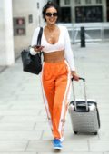 Maya Jama heads out after presenting BBC Greatest Hits BBC Radio show in London, UK