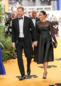 Meghan Markle and Prince Harry attend the European Premiere of Disney's 'The Lion King' European in Leicester Square, London, UK