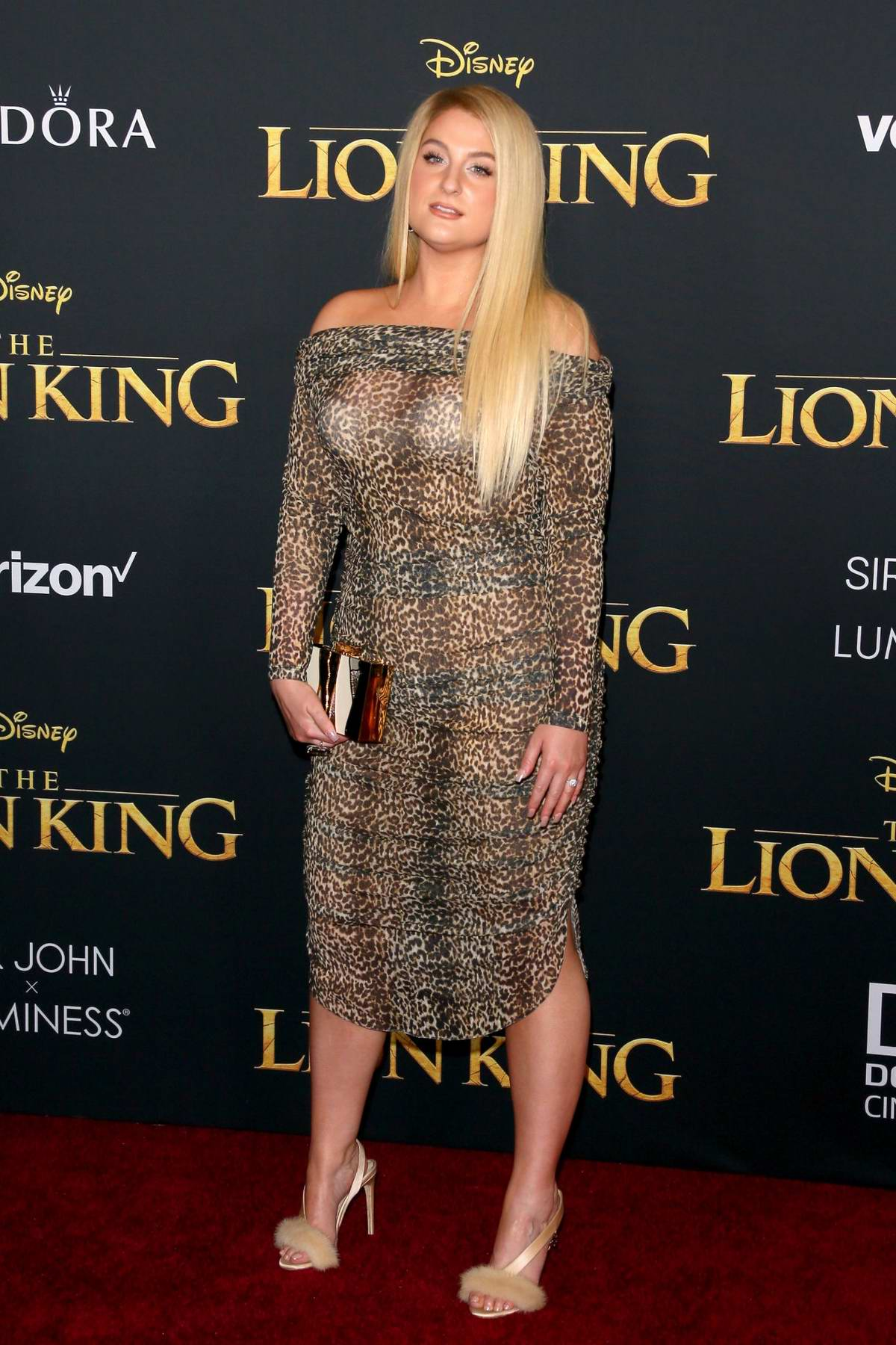 Meghan Trainor attends the premiere of Disney's 'The Lion King' at Dolby Theatre in Hollywood, California
