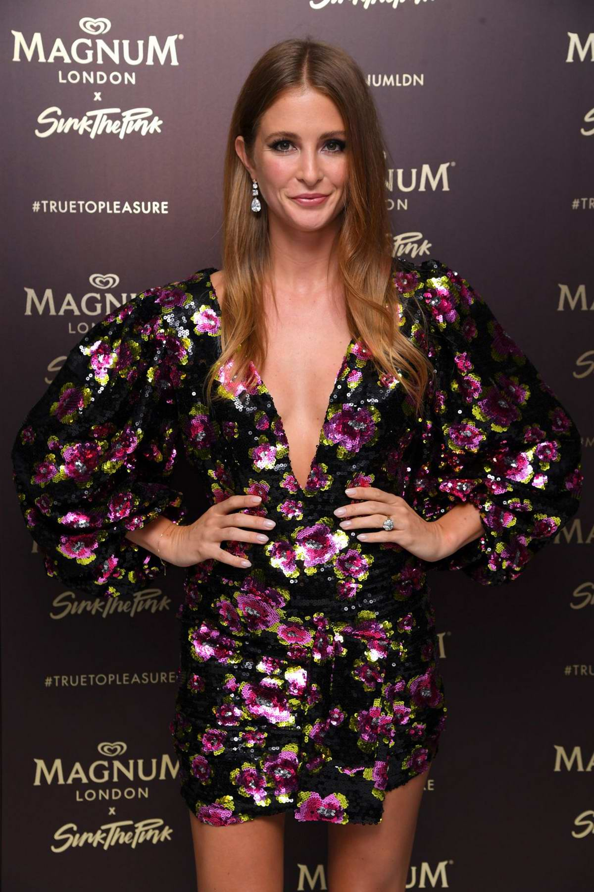 Millie Mackintosh attends the Magnum Pleasure Store launch party in London, UK