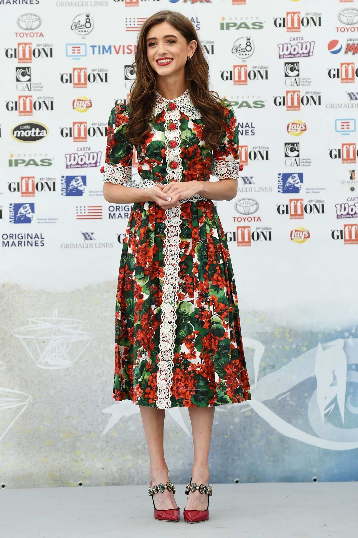 Natalia Dyer attends the 2019 Giffoni Film Festival in Giffoni Valle Piana, Italy