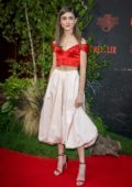 Natalia Dyer attends the Premiere of Netflix's 'Stranger Things' Season 3 at Le Grand Rex in Paris, France